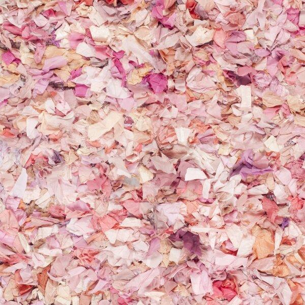 bungalow rose eliza ivorypink shag area rug