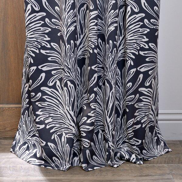 Curtains Ideas blackout pinch pleat curtains : Lauren Floral Print Blackout Pinch Pleat Single Curtain Panel ...