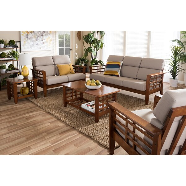 Aguon 5 piece living room set reviews joss main for Living room 5 piece sets