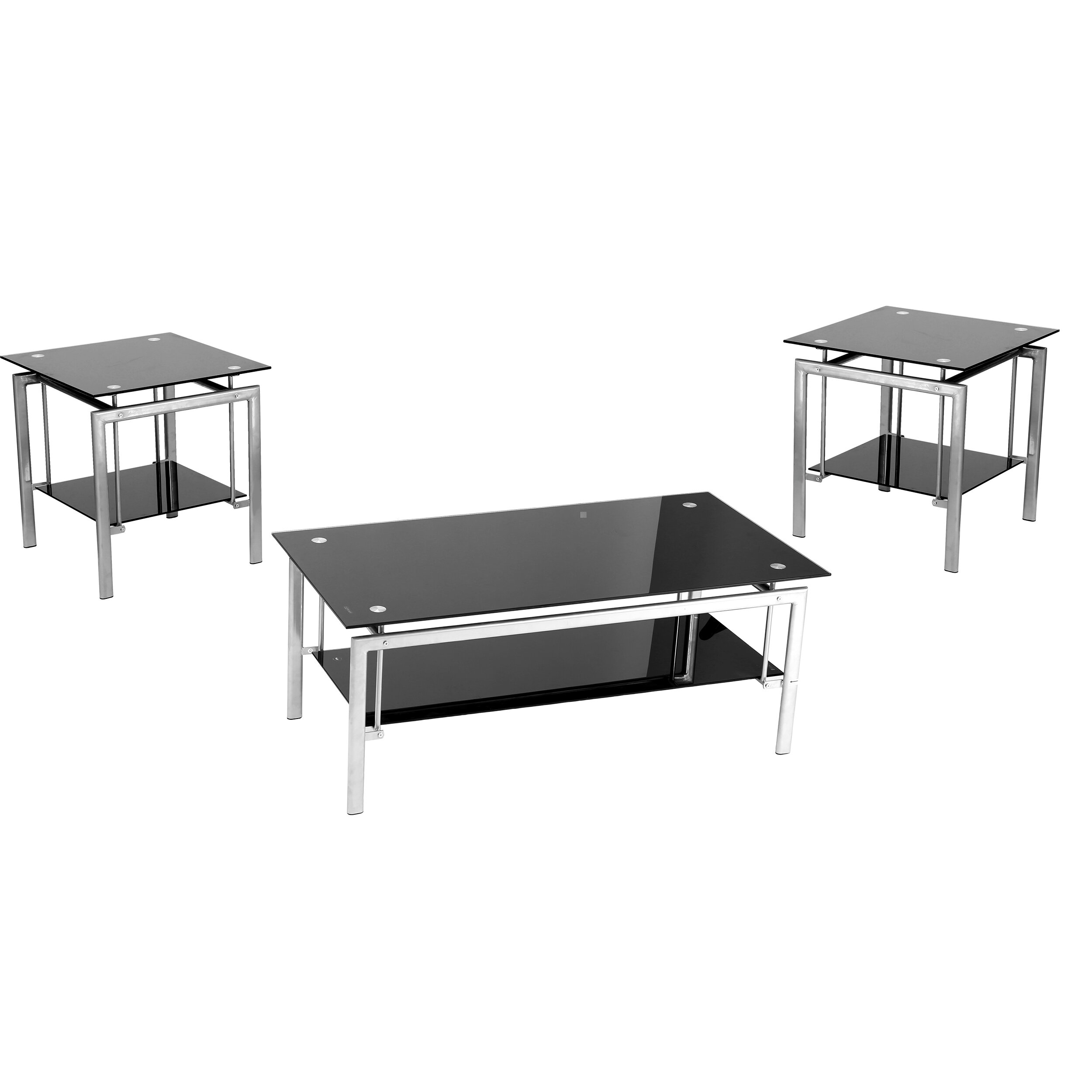 Black coffee table set - Innovex 3 Piece Coffee Table Set