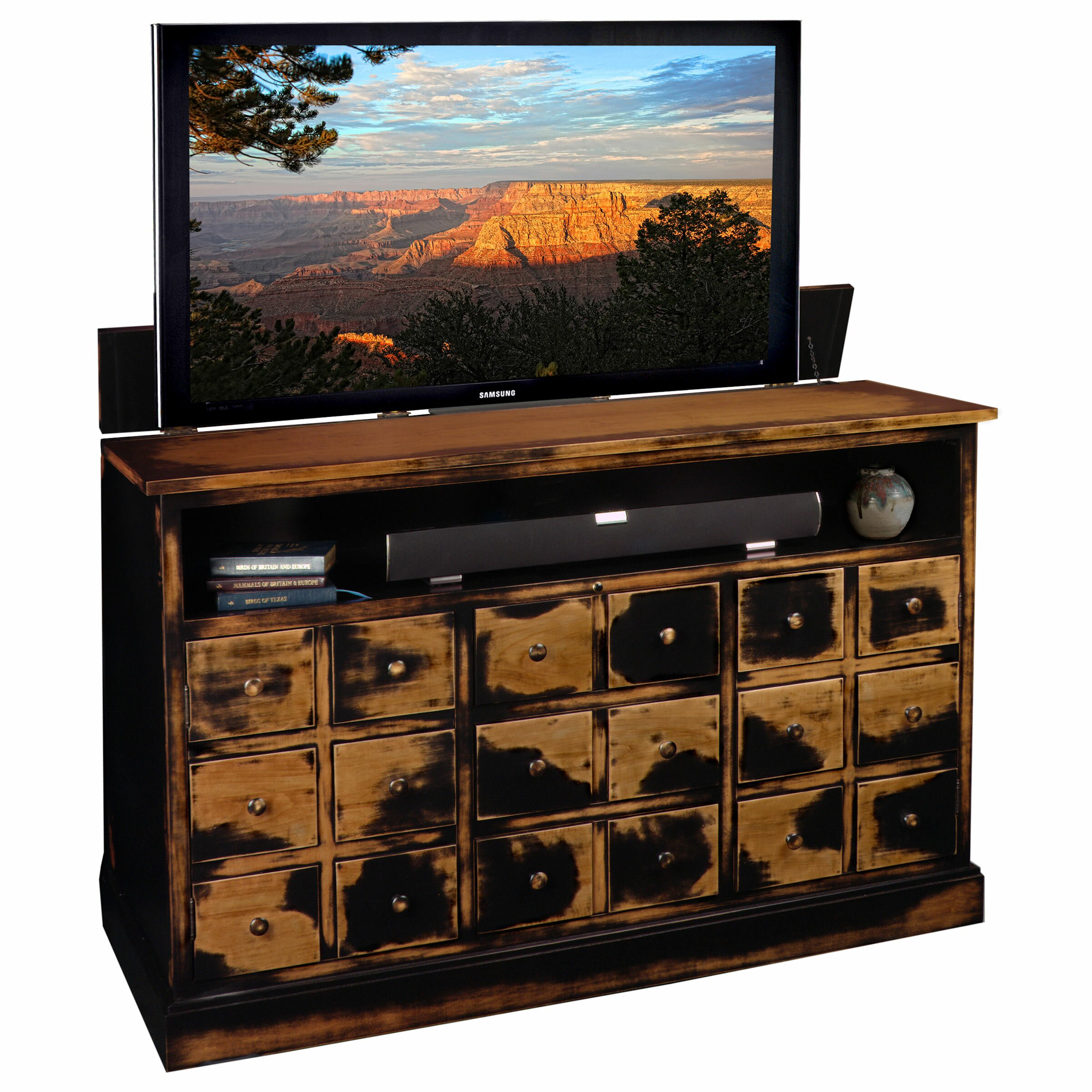 tvliftcabinet inc nantucket tv stand reviews wayfair. Black Bedroom Furniture Sets. Home Design Ideas