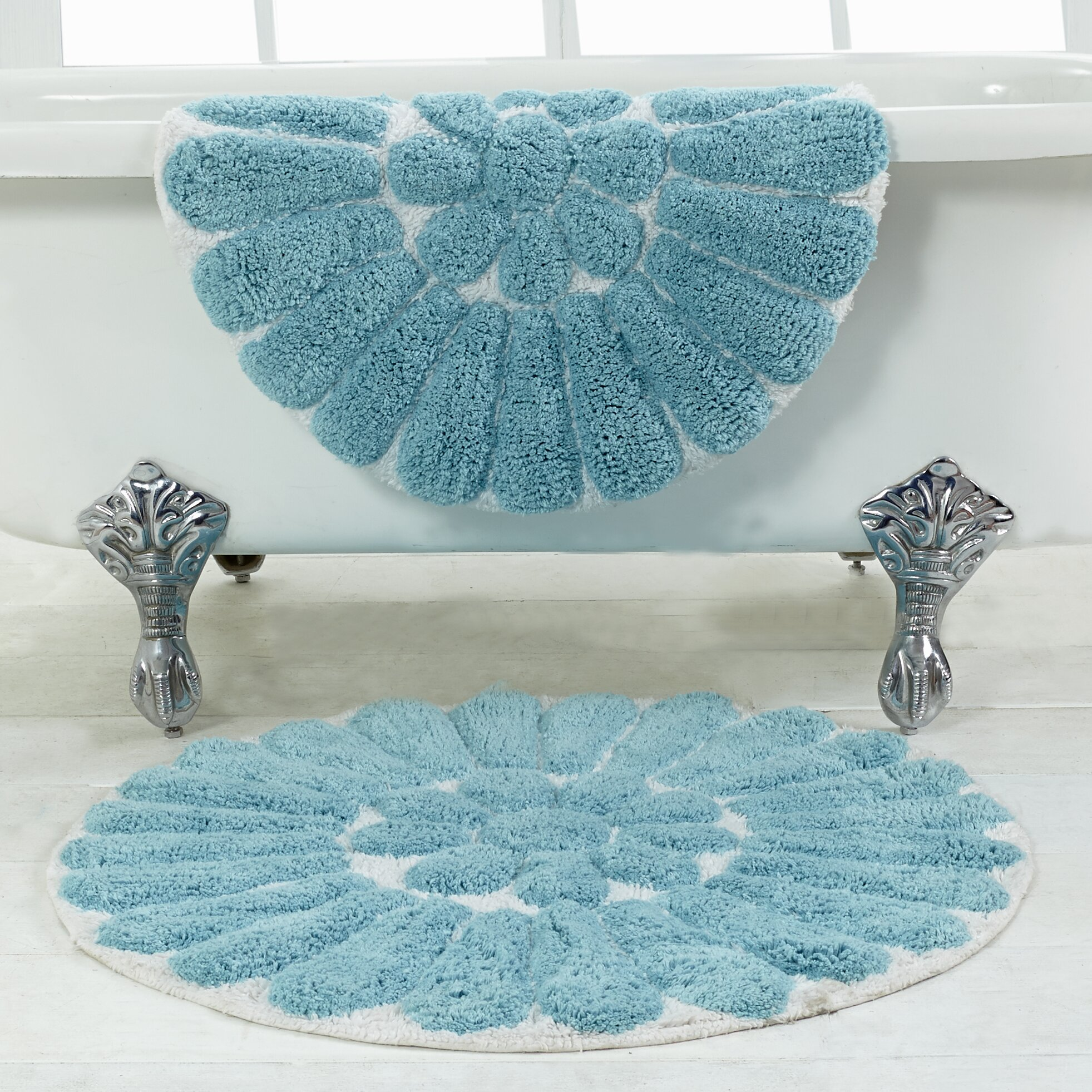 Bathroom Rugs Set Chesapeake Bursting Flower 2 Piece Bath Rug Set Reviews Wayfair