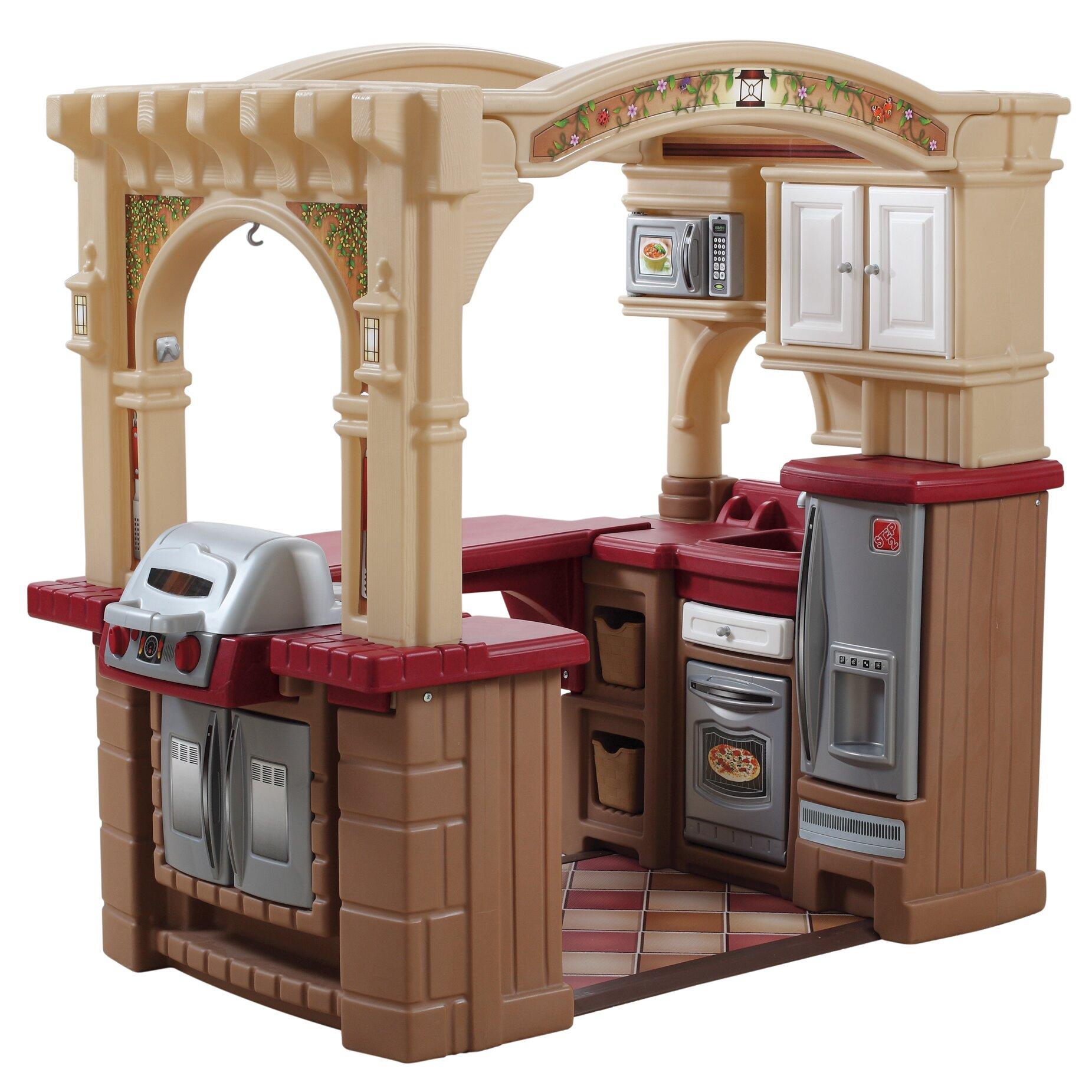 Retro Play Kitchen Set Play Kitchen Sets Accessories Youll Love Wayfair