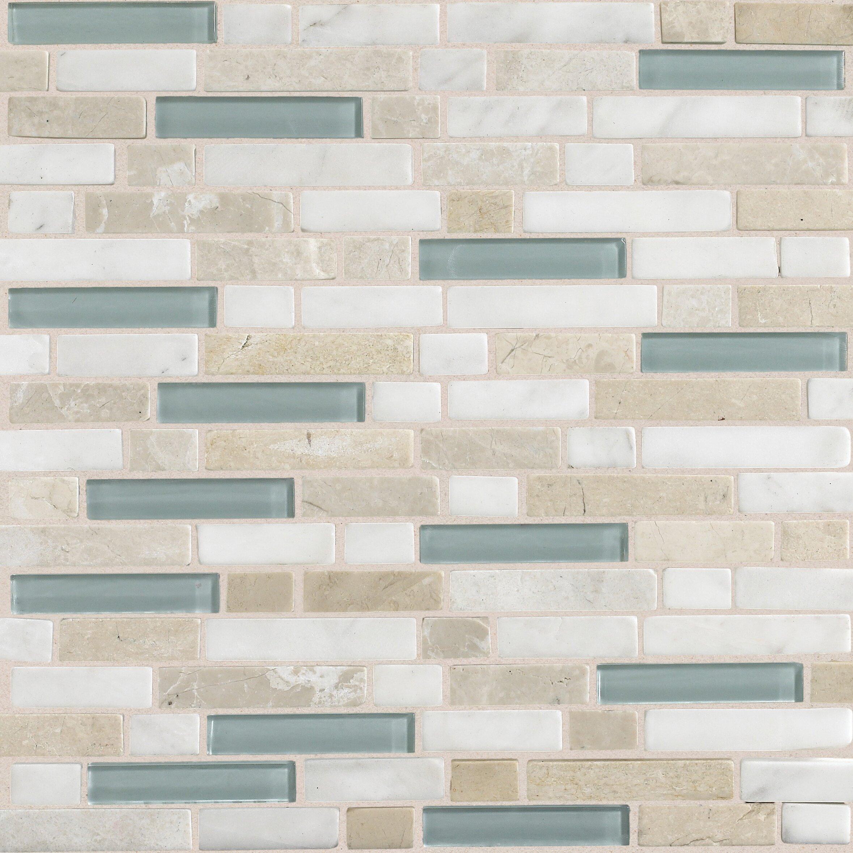 Daltile stone radiance random sized slate mosaic tile in for Mosaic bathroom bin