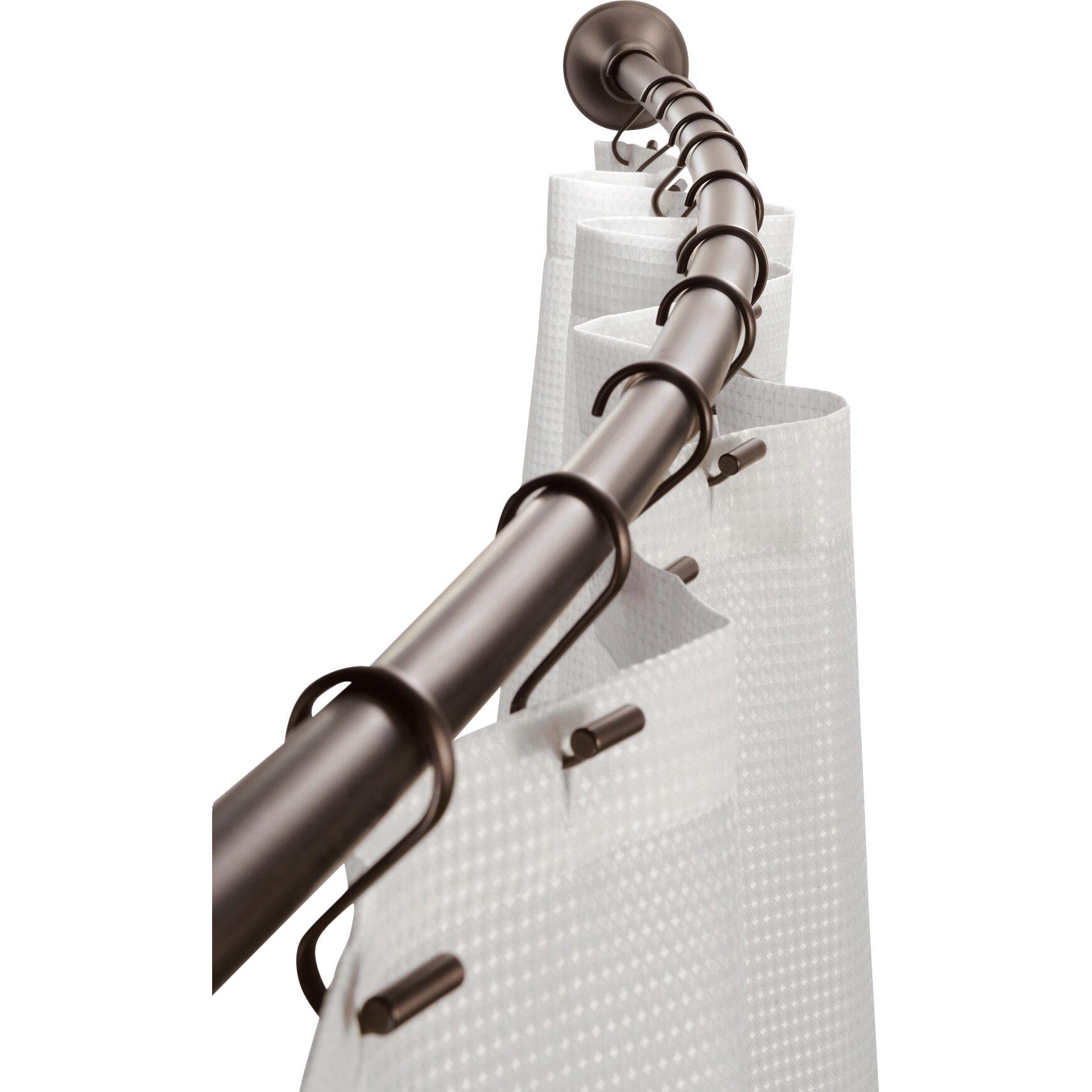 Franklin Brass Curved Shower Curtain Rod Curtain Menzilperde Net