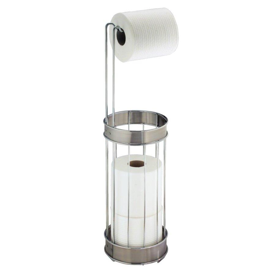 Interdesign bruschia free standing toilet paper holder reviews wayfair - Interdesign toilet paper holder ...