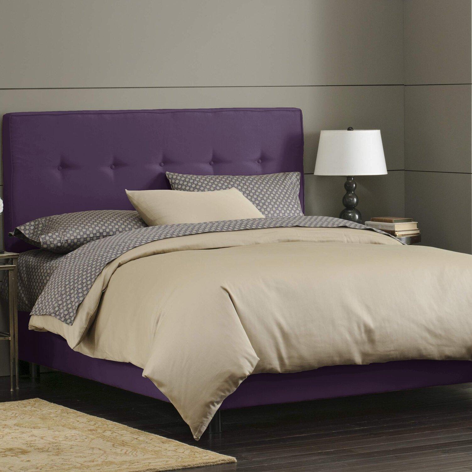 Skyline Bedroom Furniture Skyline Furniture Button Tufted Upholstered Panel Bed Reviews