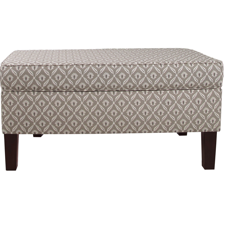 Skyline Bedroom Furniture Skyline Furniture Clover Upholstered Storage Bedroom Bench