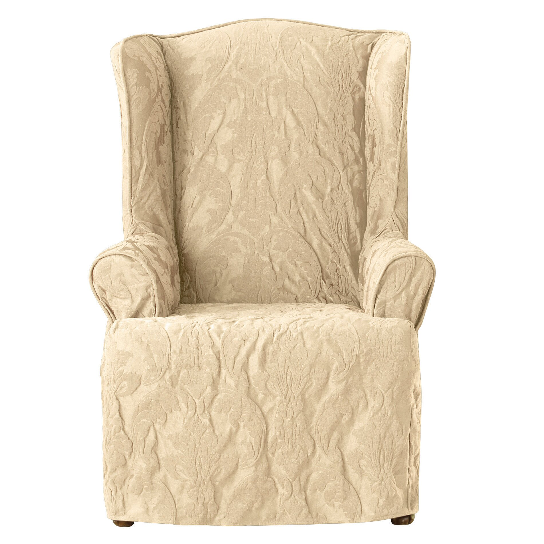 Wing Chair Slipcovers Youll Love Wayfair .