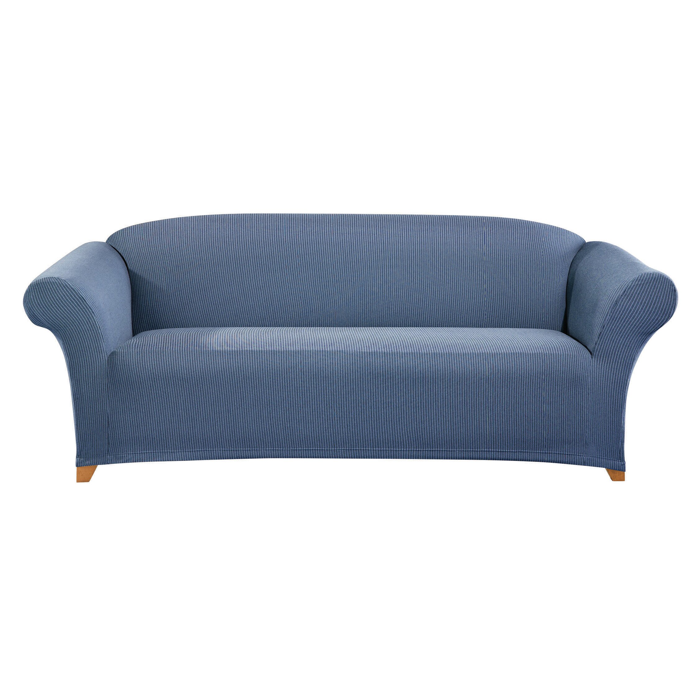 Sofa quilted sofa cover sofa and loveseat sets cheap  : Sure Fit Simple Stretch Ticking Stripe Sofa Slipcover from kingoffice.us size 2233 x 2233 jpeg 882kB