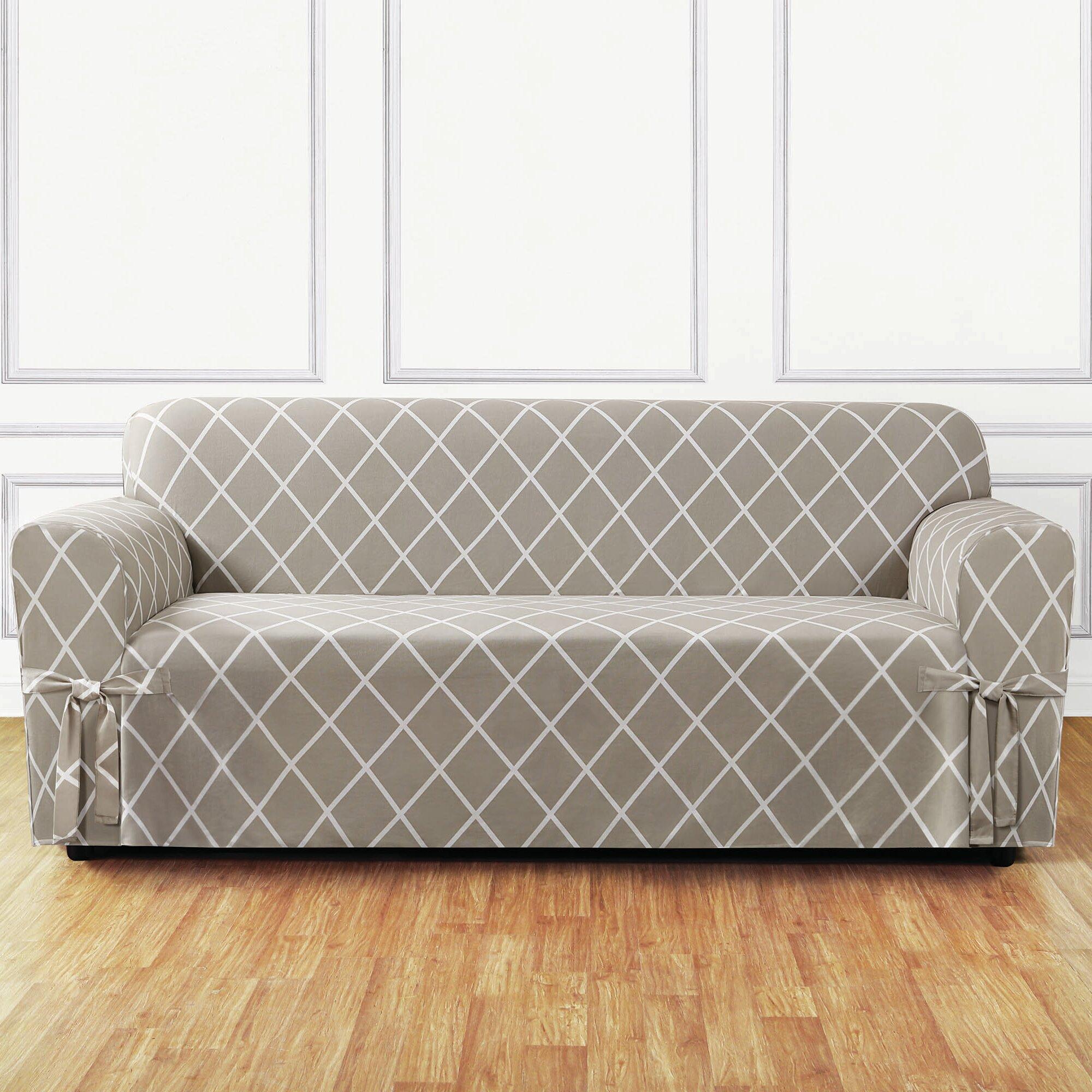 Sure Fit Lattice Sofa Slipcover & Reviews