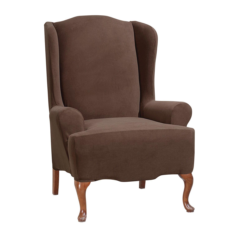 morgan wingchair t cushion skirted slipcover reviews wayfair