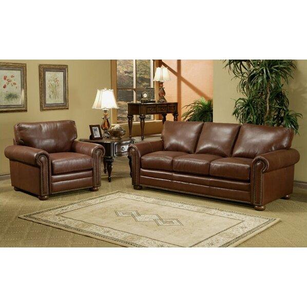Omnia Leather Savannah Leather 3 Seat Sofa Living Room Set Reviews Wa