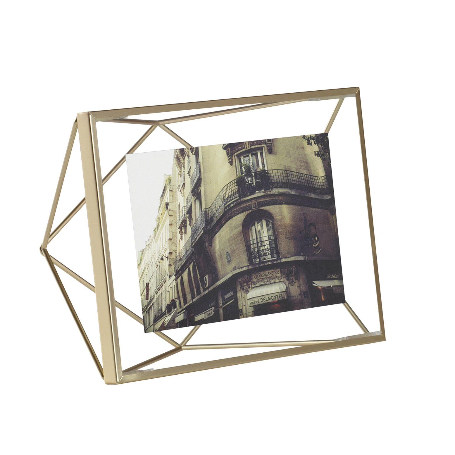 umbra prisma brass picture frame