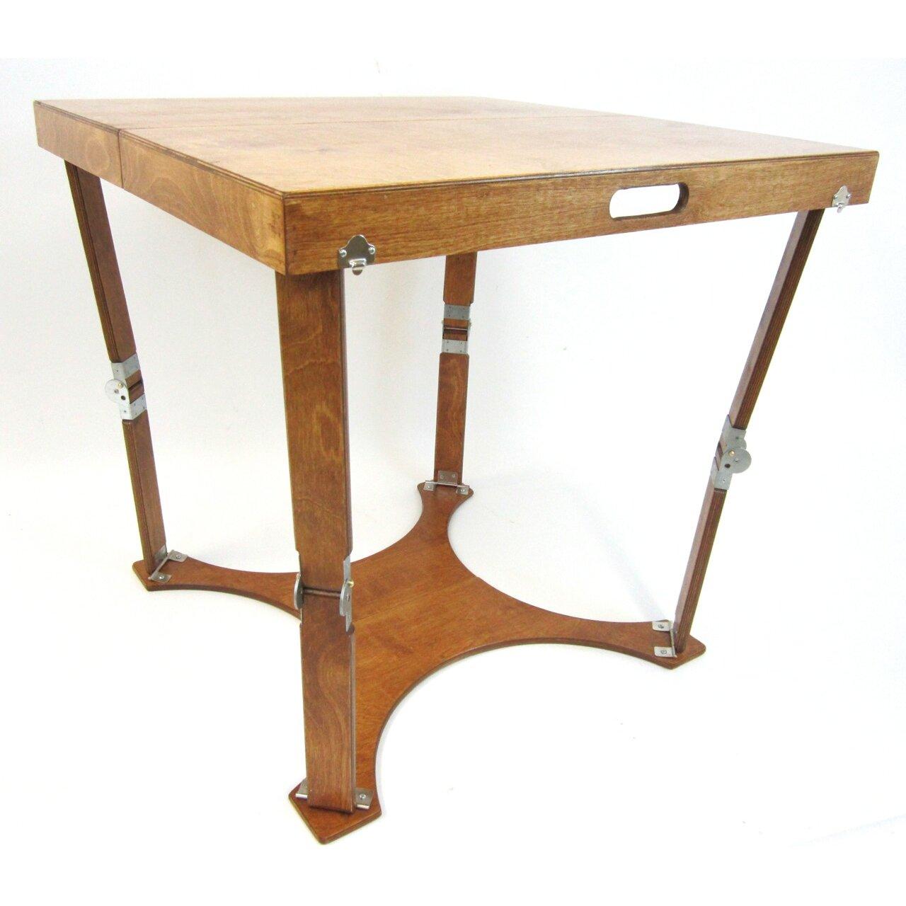 spiderlegs portable folding dining table  reviews  wayfair, Dining tables
