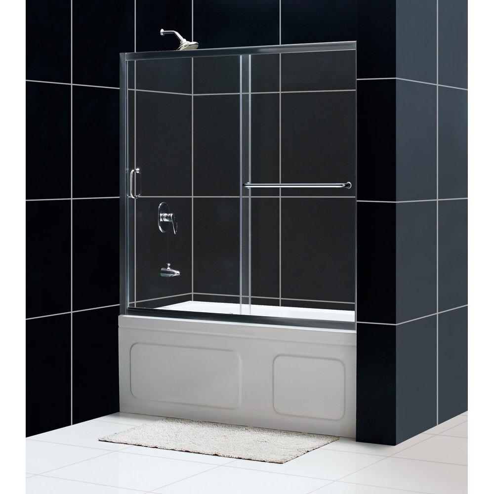 Frameless Sliding Tub Shower Doors half shower door - creditrestore
