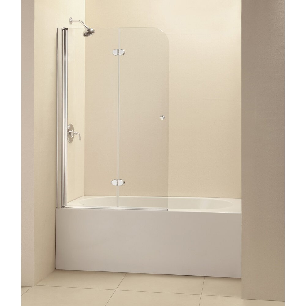Dreamline Aqua Fold 36 Quot X 58 Quot Hinged Frameless Tub Door