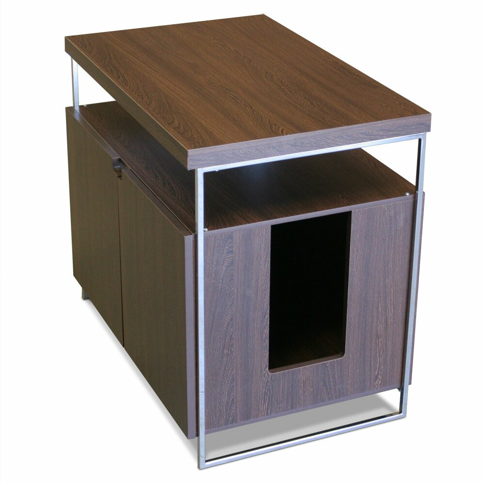 modern cat designs large cat litter box enclosure reviews wayfair. Black Bedroom Furniture Sets. Home Design Ideas