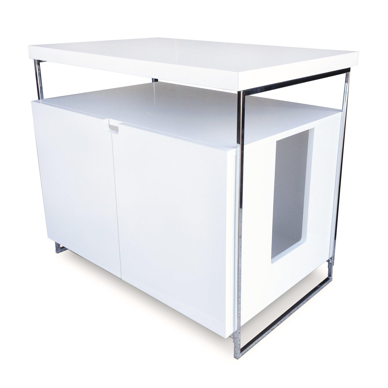 Wooden Litter Box Cabinets Modern Cat Designs Large Cat Litter Box Enclosure Reviews Wayfair