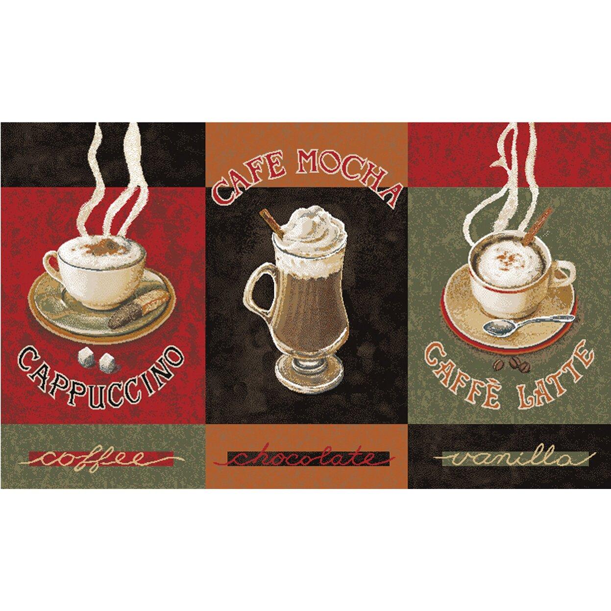 Caffe Latte  Piece Kitchen Rug Set