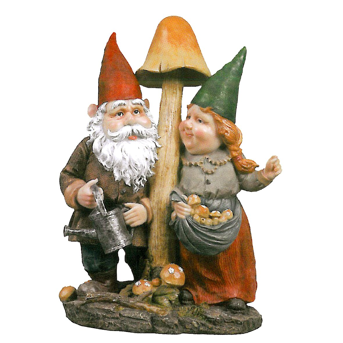 Design Toscano Mushroom Hunters Garden Gnome Statue Reviews