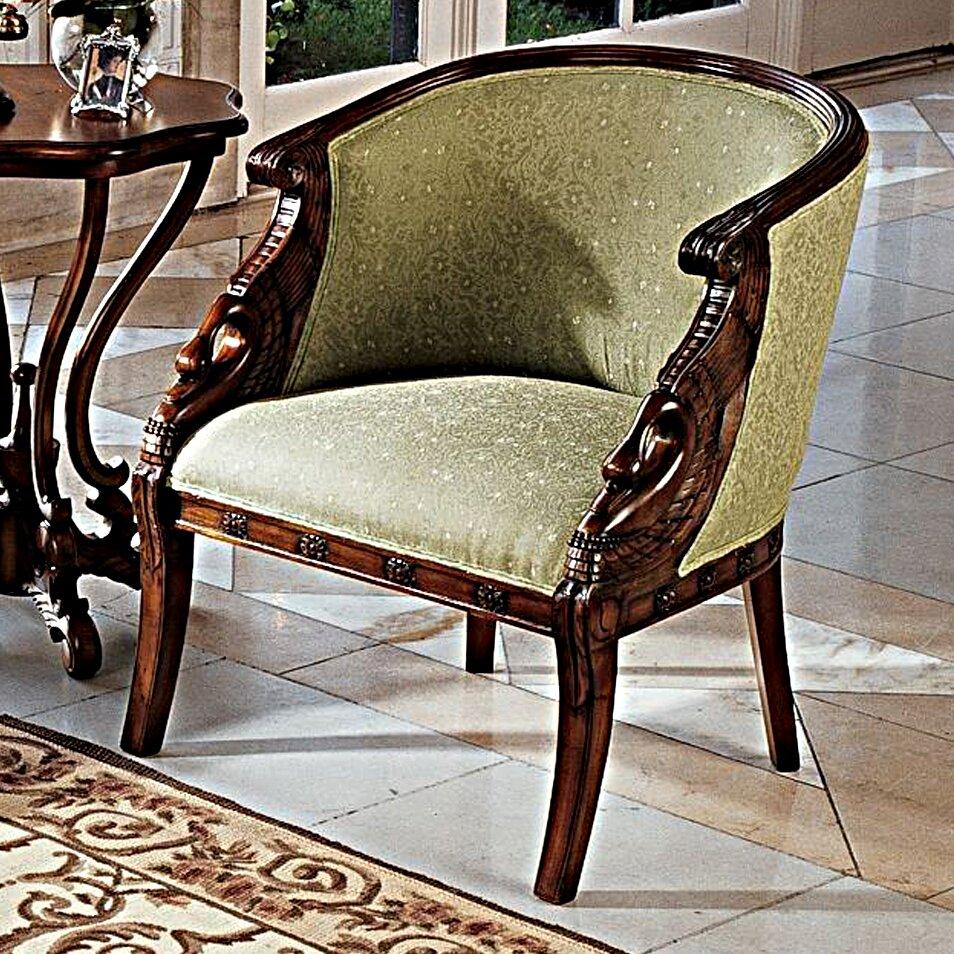 Design Toscano Due Cigno Barrel Chair Reviews Wayfair