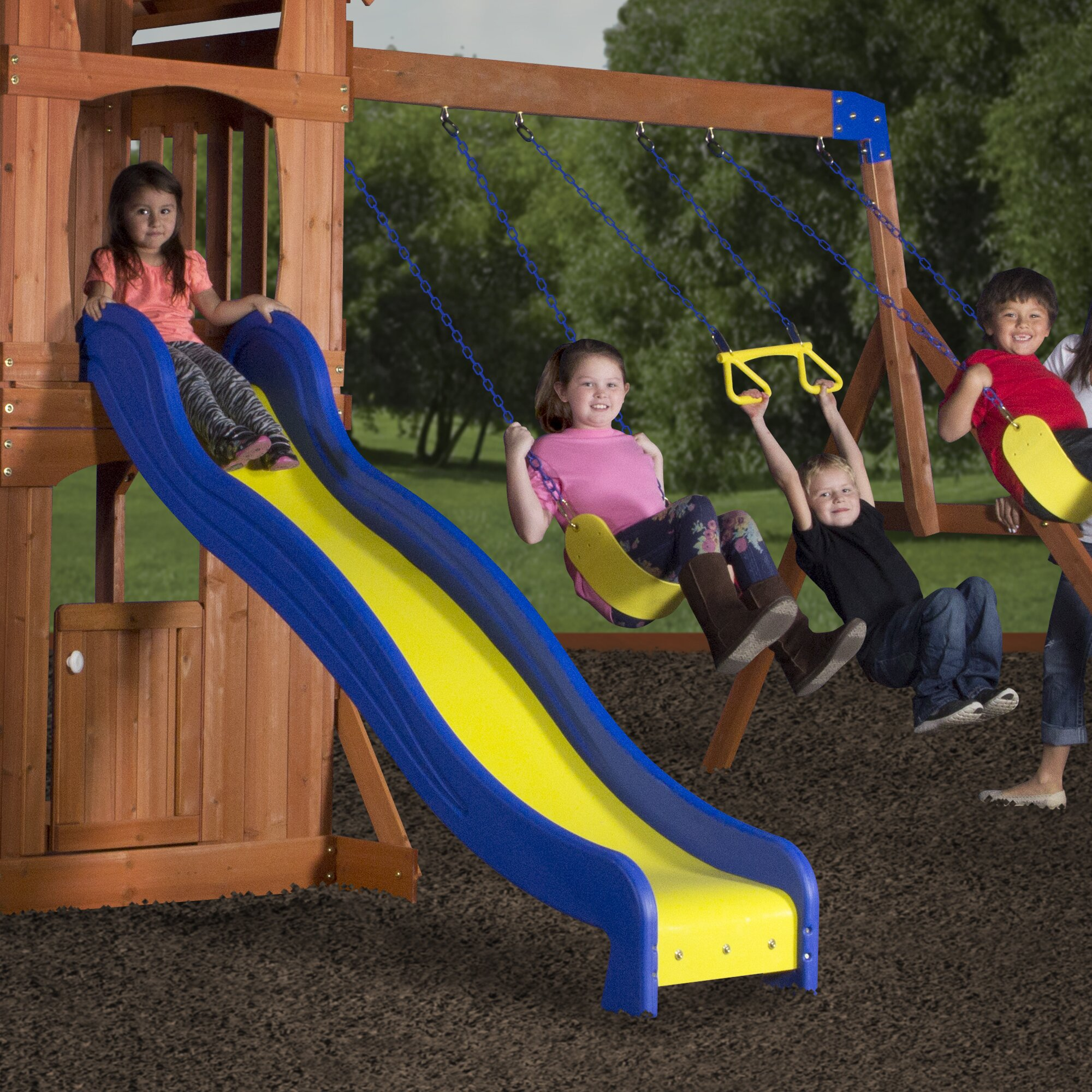 Backyard Discovery Cedar View Swing Set