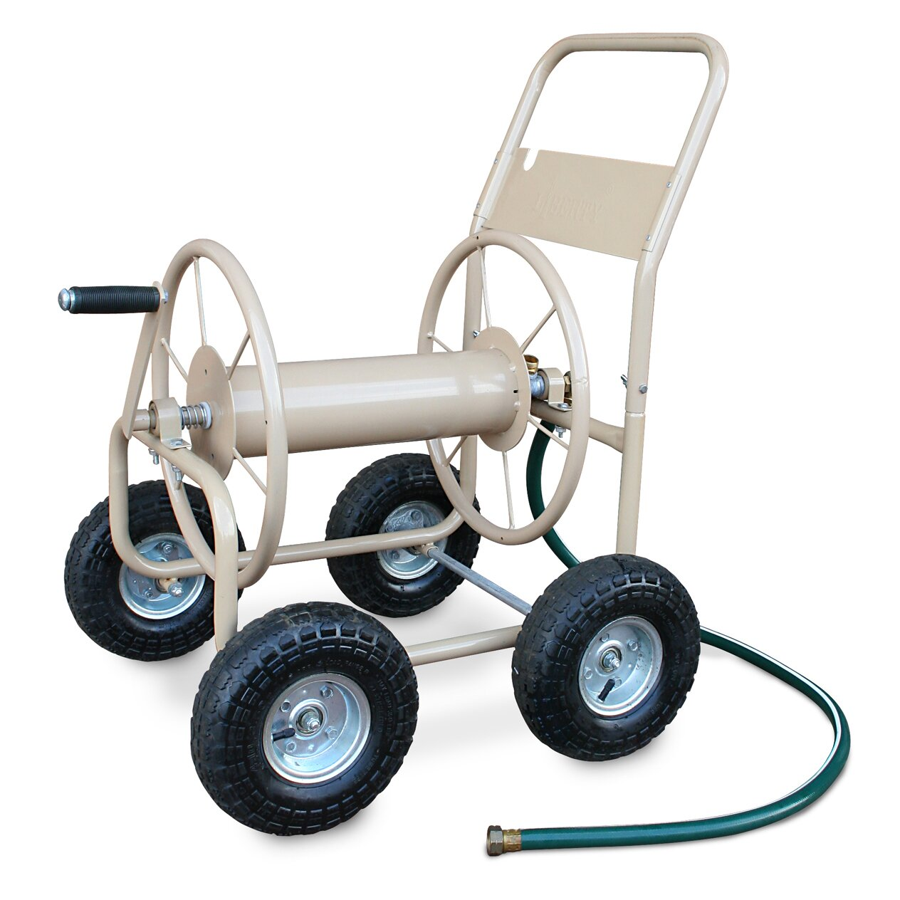 Liberty Garden Industrial 4 Wheel Hose Reel Cart Reviews Wayfair