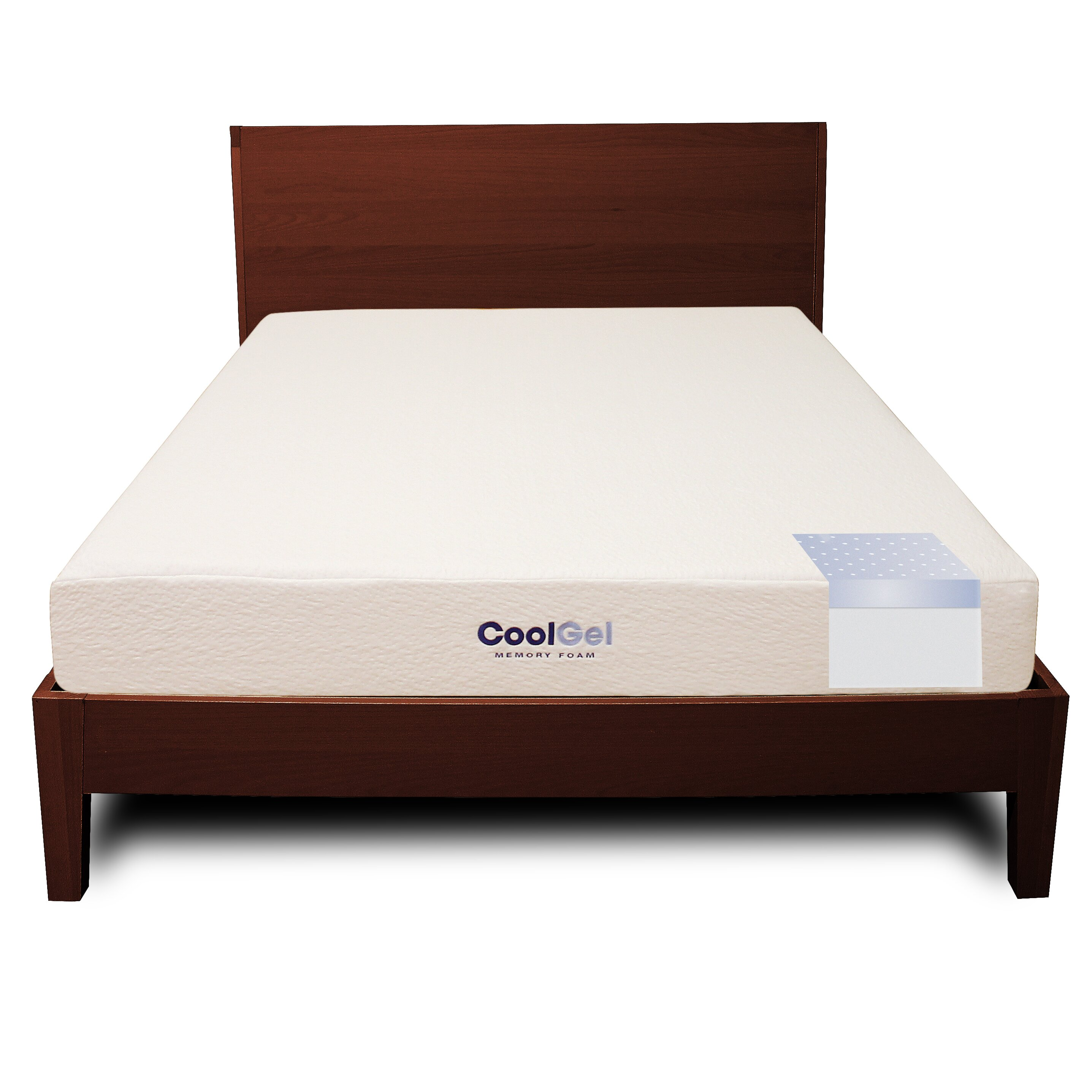 classic brands 8 firm gel memory foam mattress