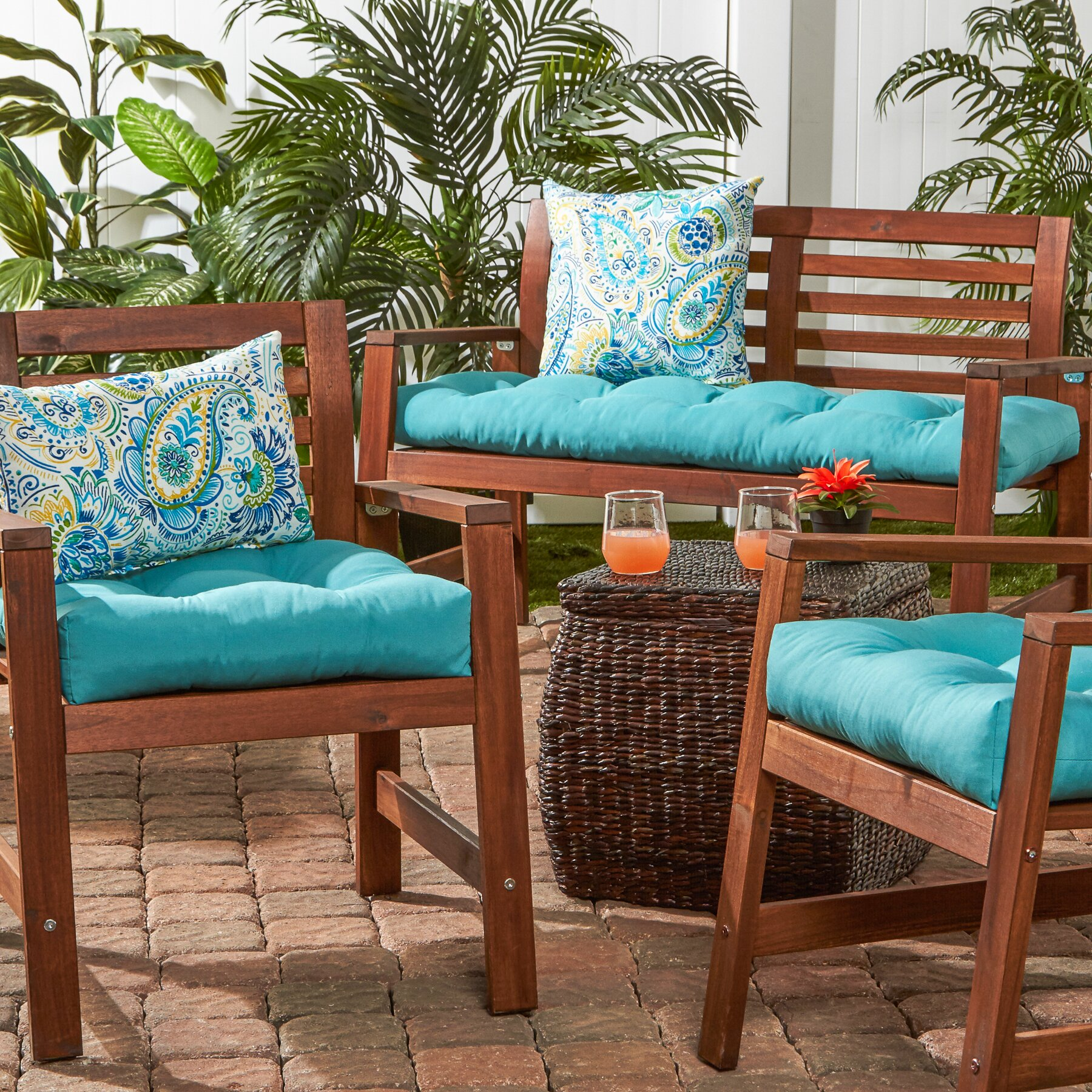 "Greendale Home Fashions 51"" Outdoor Bench Cushion"