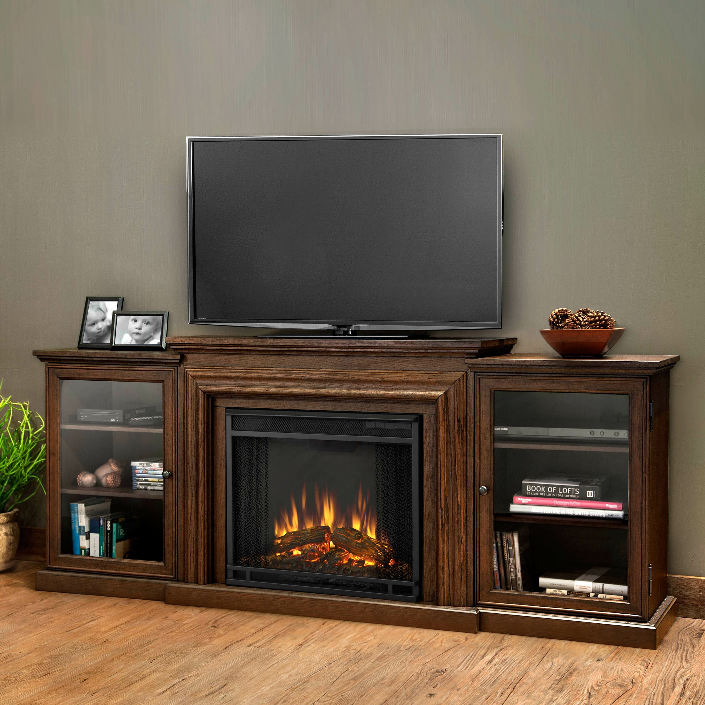 Stand Tv. Callowhill Tv Stand With Electric Fireplace. Video ...