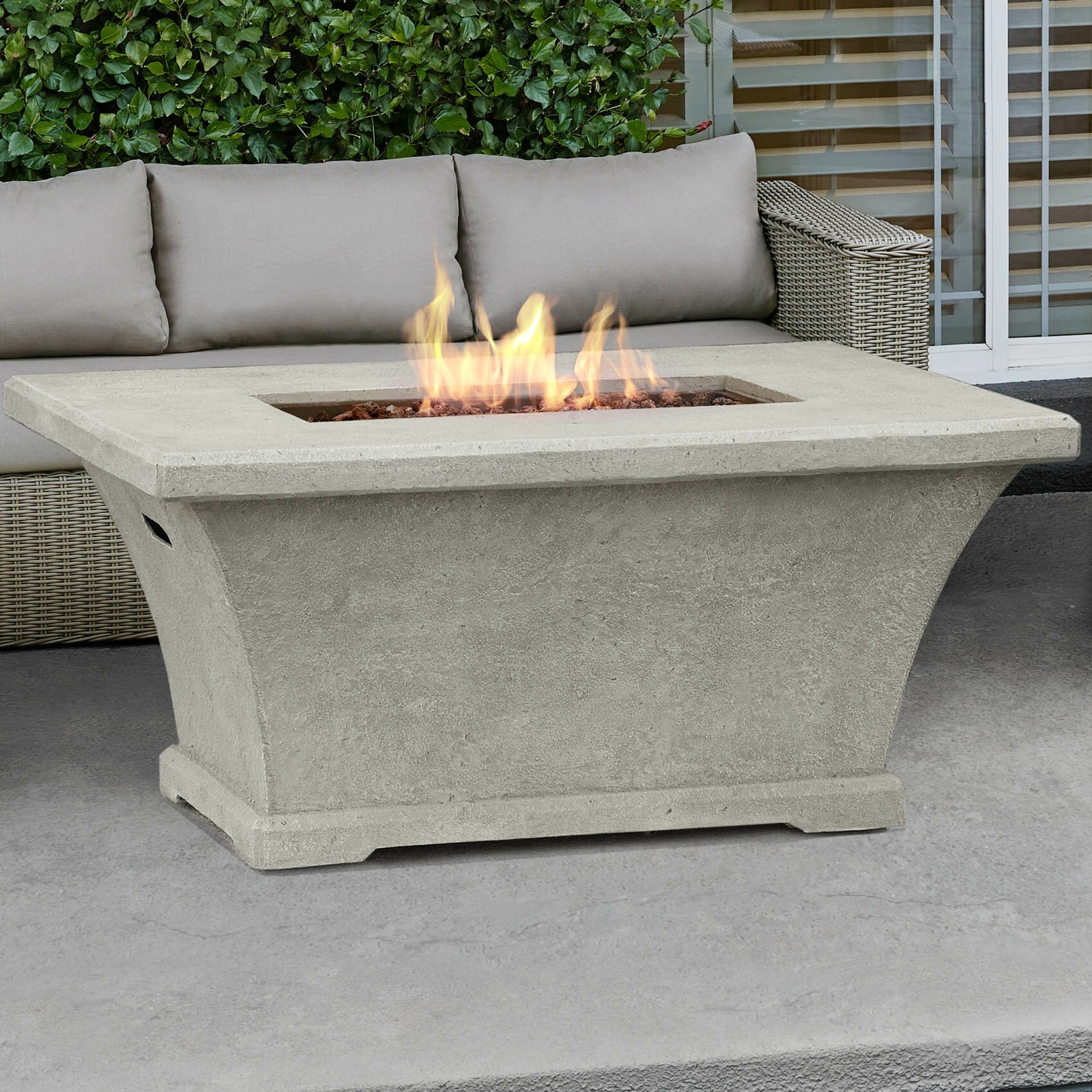 Real Flame Monaco Rectangle Propane Fire Pit Table ...