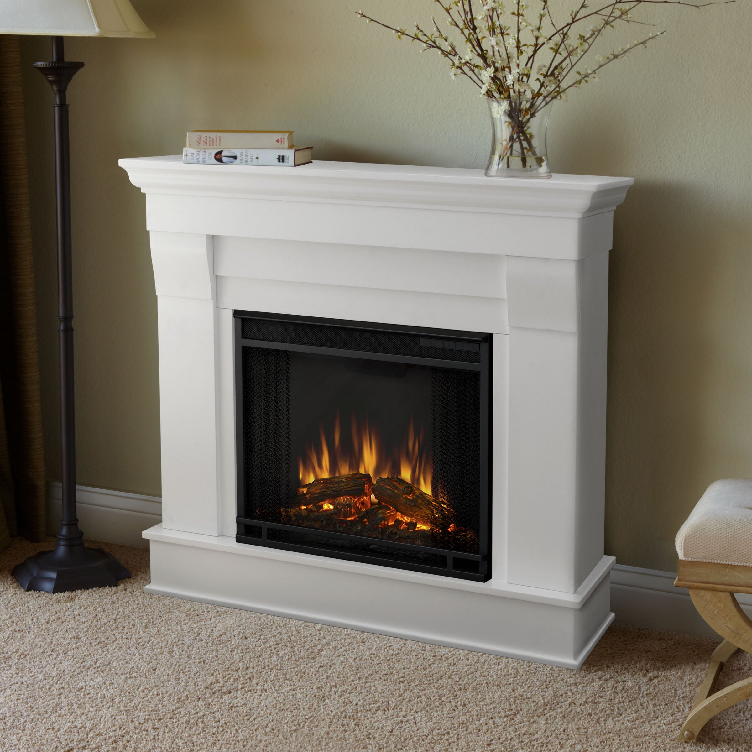 Country flame wood stove insert - Real Flame Chateau Electric Fireplace Reviews Wayfair