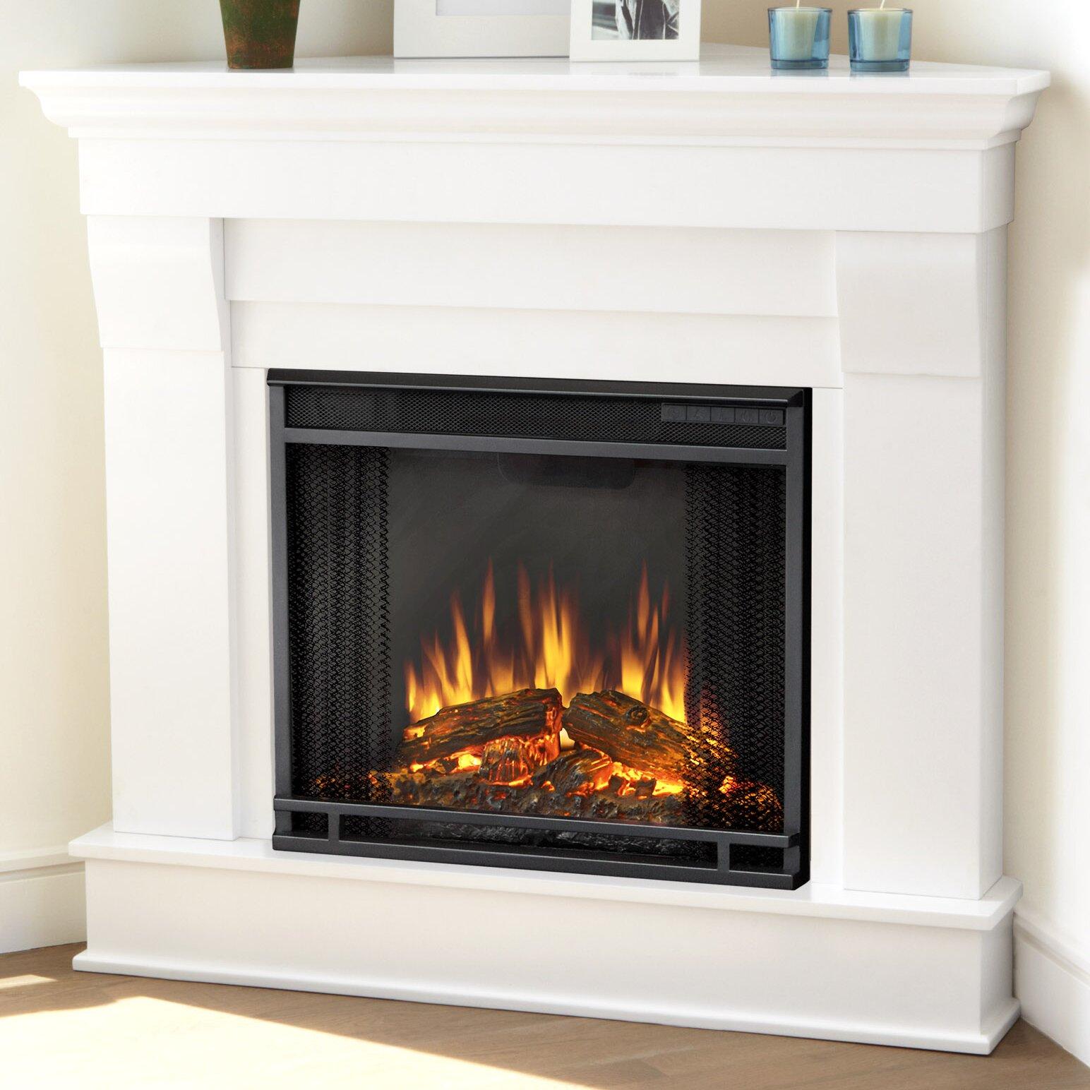 Real Flame Chateau Corner Electric Fireplace - Real Flame Chateau Corner Electric Fireplace & Reviews Wayfair