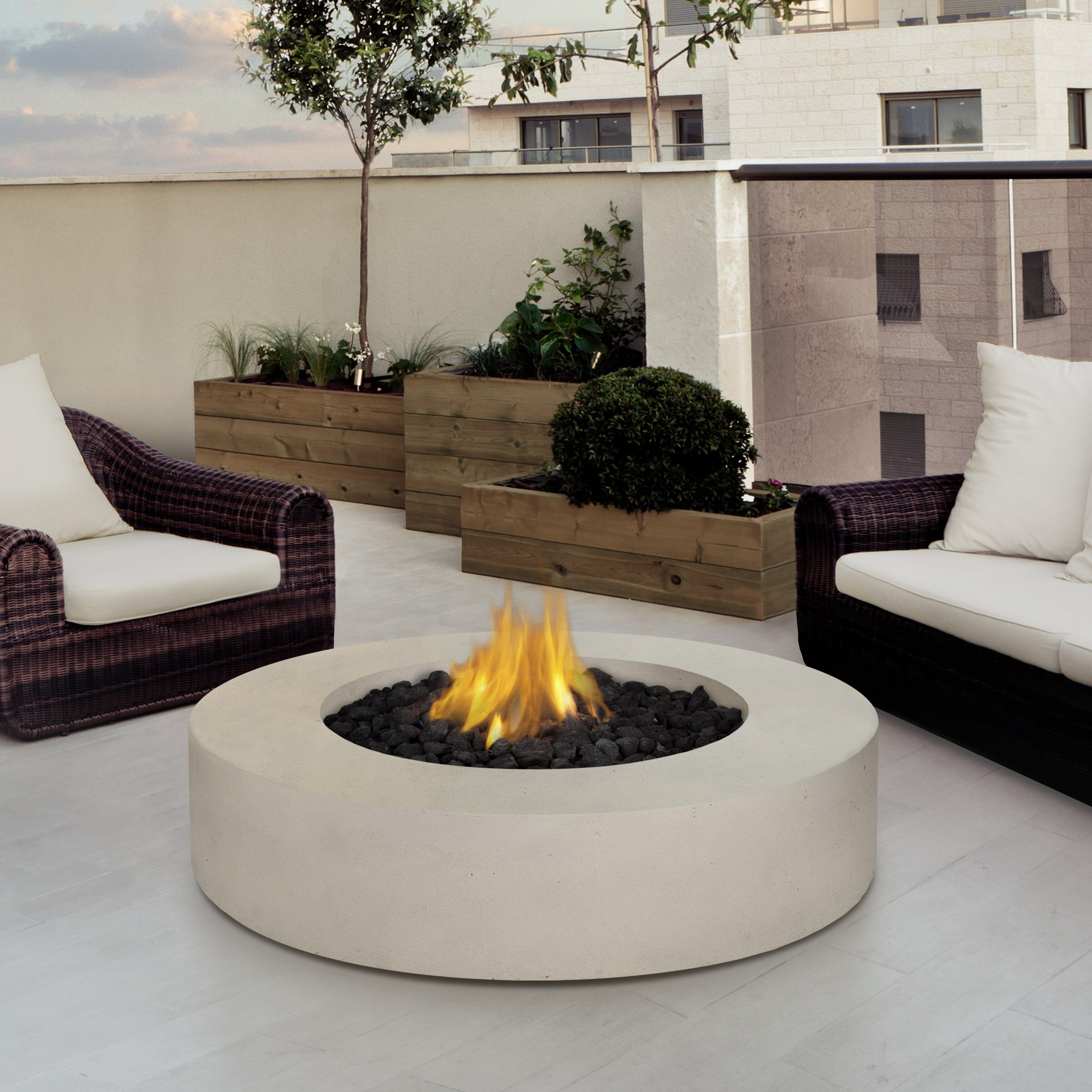 Indoor fire pit coffee table - Real Flame Mezzo Propane Fire Pit Table