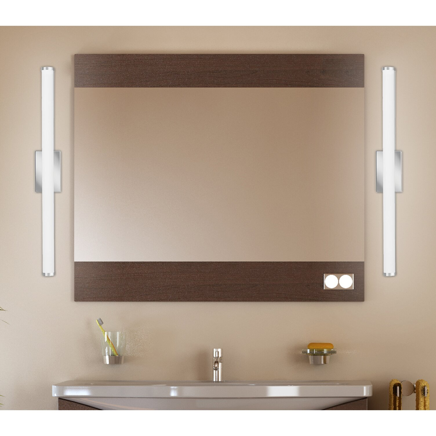 Lithonia Under Cabinet Lighting Lithonia Lighting Cylinder 1 Light Led Bath Bar Reviews Wayfair