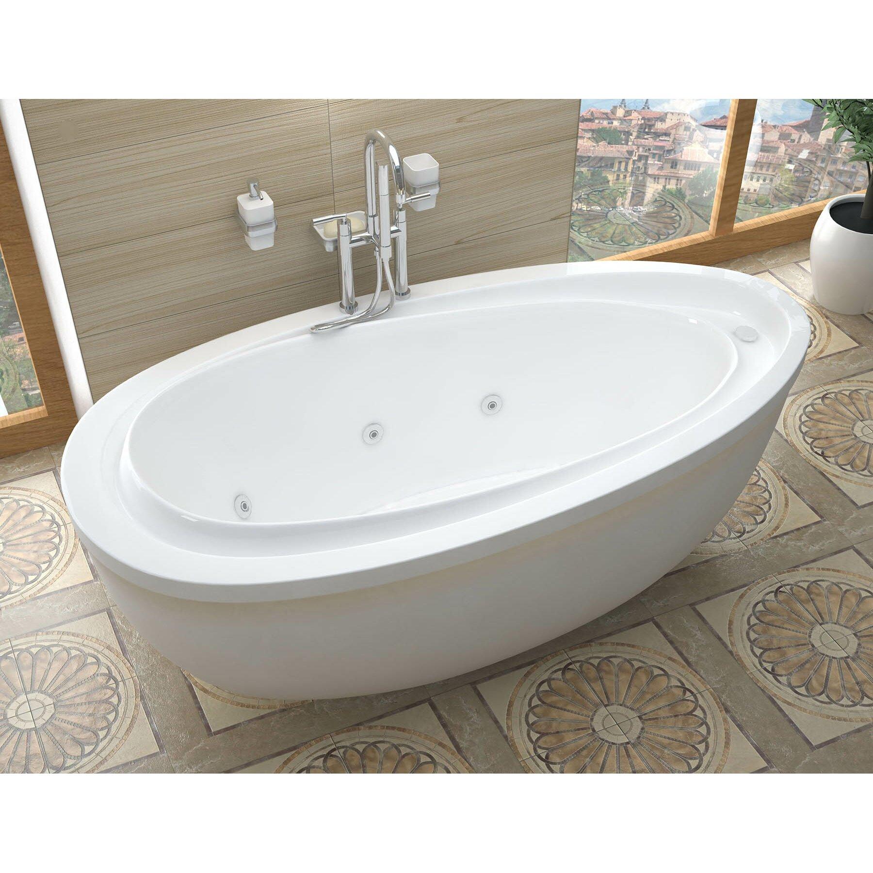Freestanding Tubs Youll Love Wayfair - Freestanding tub end drain