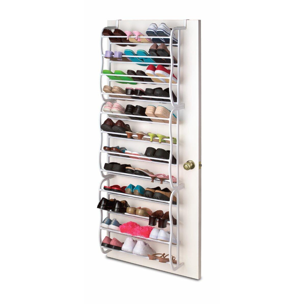 Over the door boot rack - Sunbeam 12 Tier Overdoor Shoe Organizer