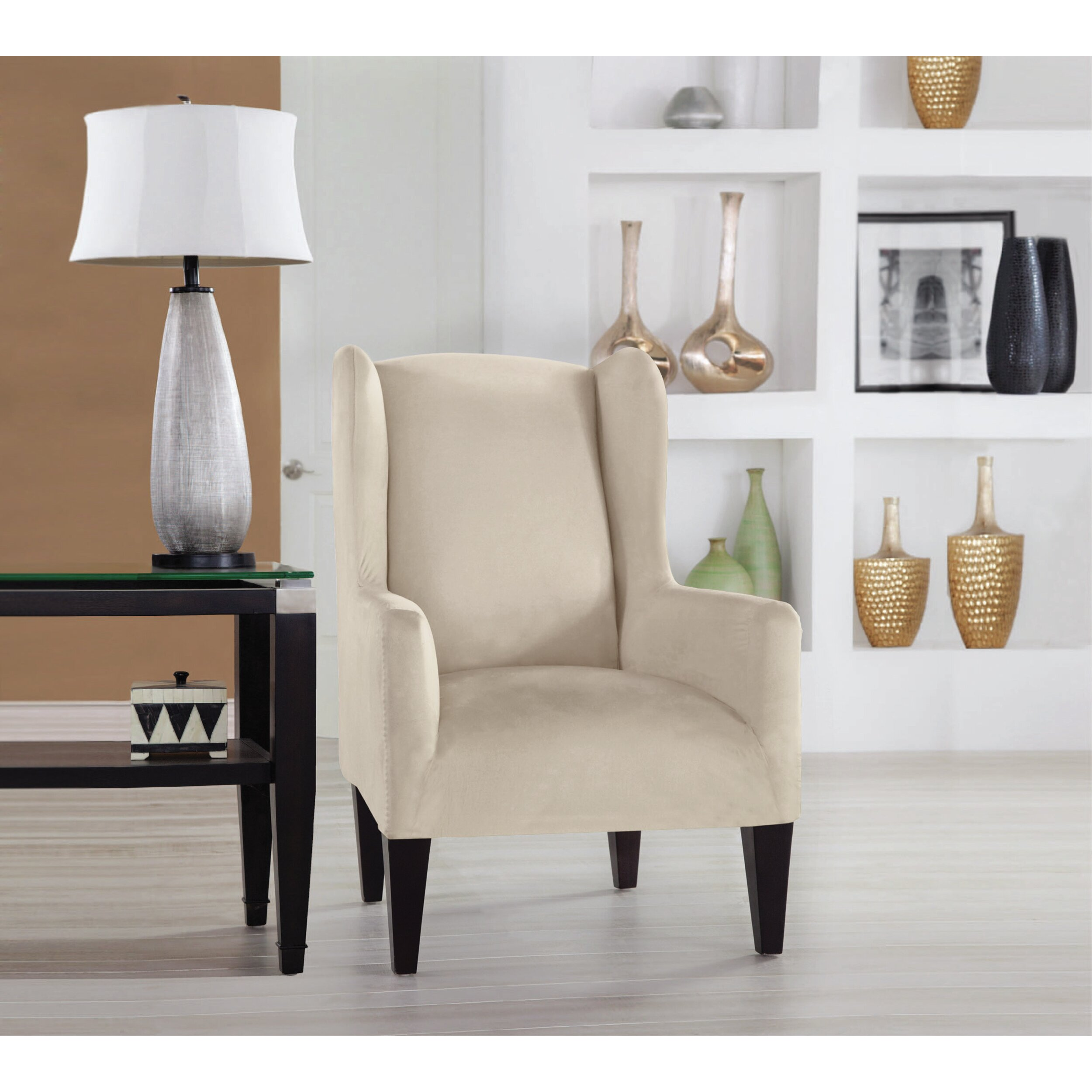 Living Room Chair Slipcovers Perfect Fit Industries Tailor Fit Wingback Chair Slipcover
