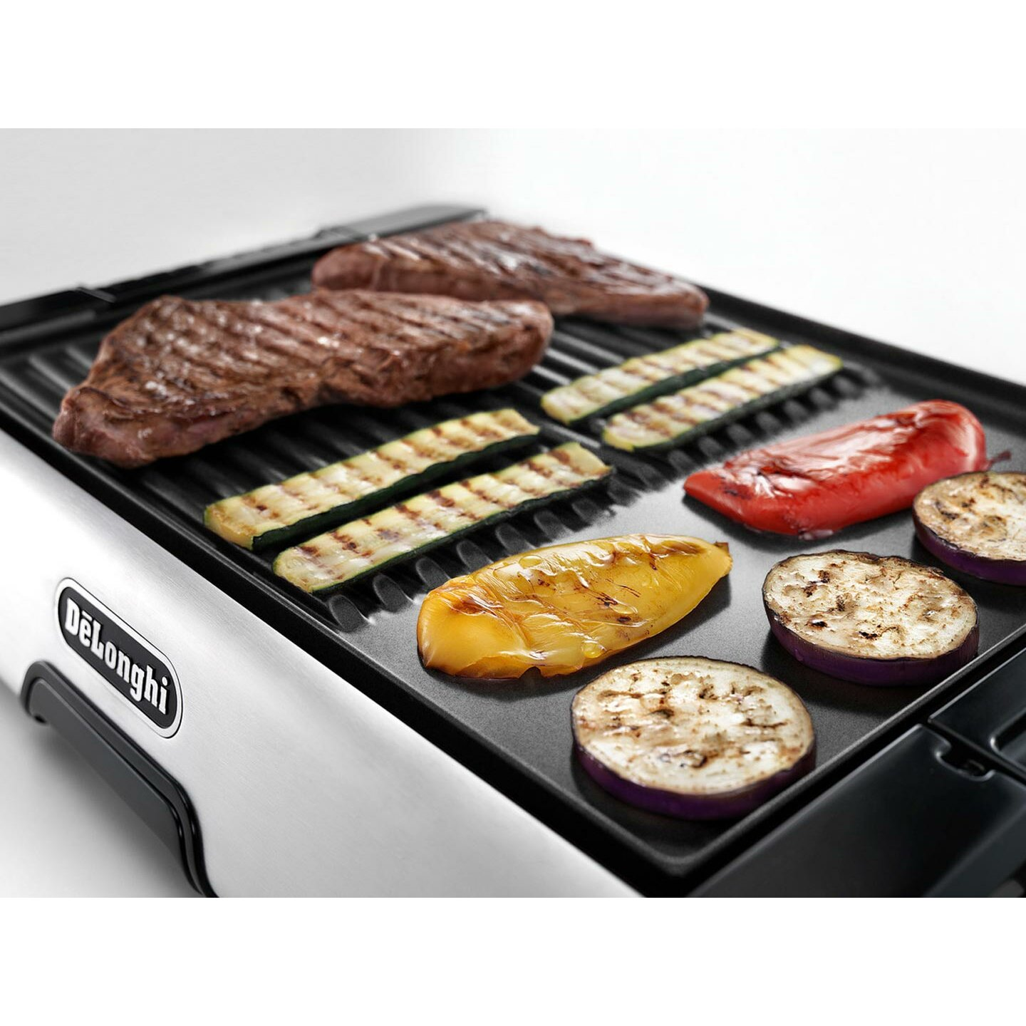 Non Stick Kitchen Appliances Delonghi Indoor 2 In 1 Non Stick Ceramic Coated Grill And Griddle