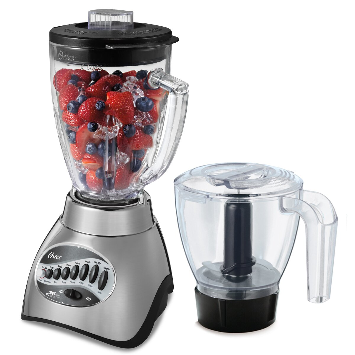 Cuisinart smartpower duet blender and food processor - Oster 16 Speed Glass Jar Blender