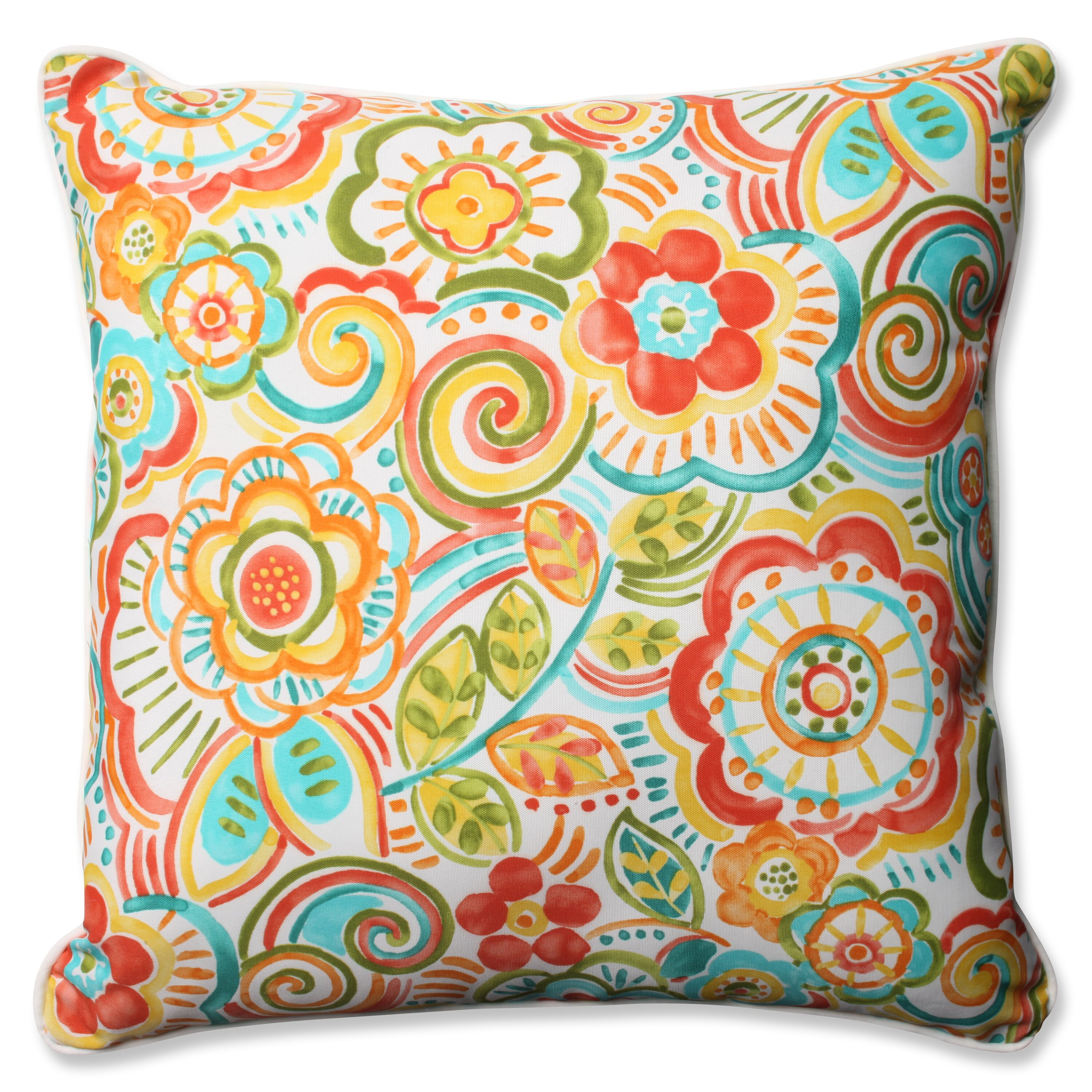 Pillow Perfect Bronwood Carnival Indoor/Outdoor Floor Pillow | Wayfair - Pillow Perfect Bronwood Carnival Indoor/Outdoor Floor Pillow