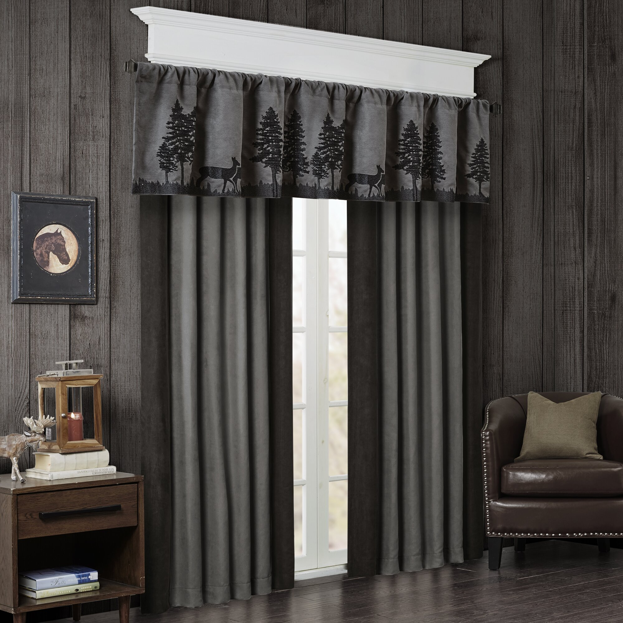 Woolrich Tree Faux Suede Curtain Valance Amp Reviews Wayfair