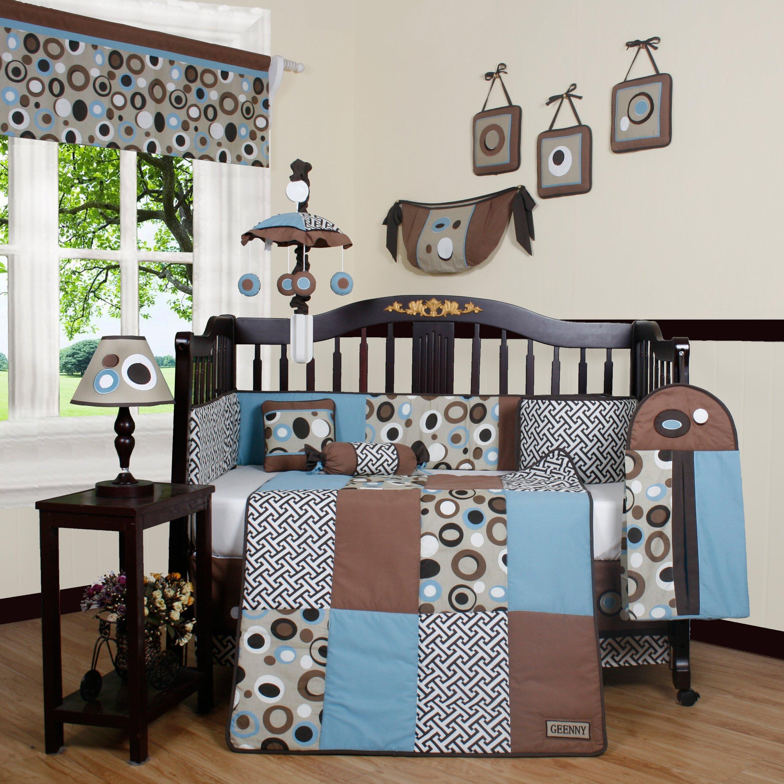 Geenny Boutique Scribble 13 Piece Crib Bedding Set ...