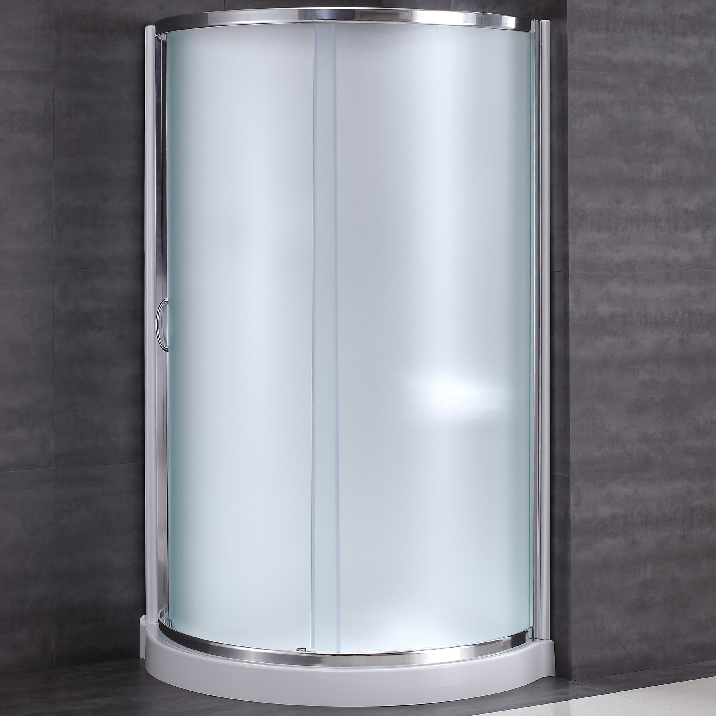 Ove Decors Shower Doors Ove Decors Breeze 38 X 38 X 76 Neo Angle Frosted Glass Kit