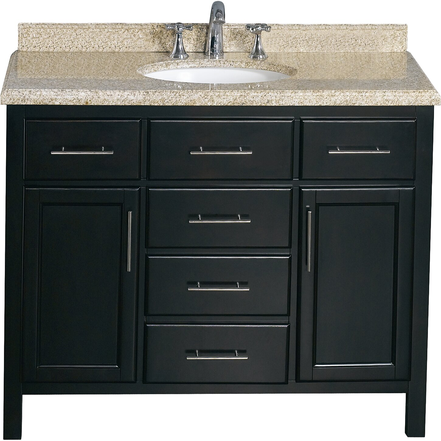 42 Bathroom Vanity Ove Decors Milan 42 Single Bathroom Vanity Set Reviews Wayfair