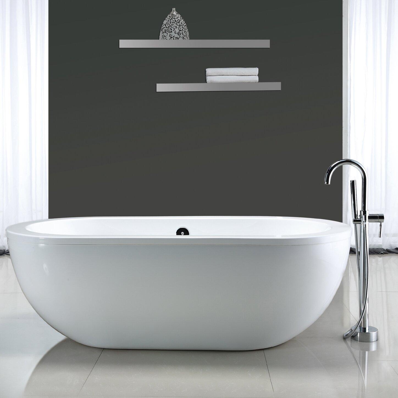 Acrylic Bathroom Sink Ove Decors Serenity 71 X 34 Acrylic Freestanding Bathtub