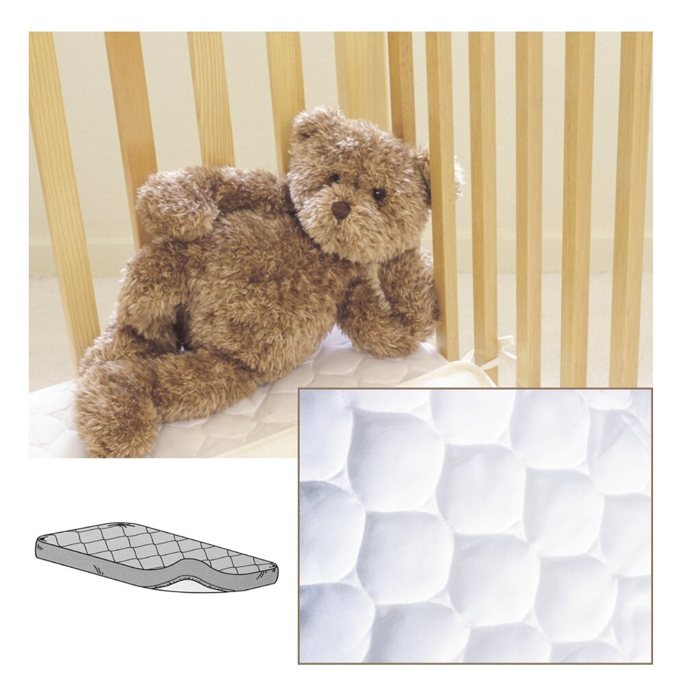 Baby crib mattress topper - American Baby Company Waterproof Quilted Mini Crib Mattress Pad