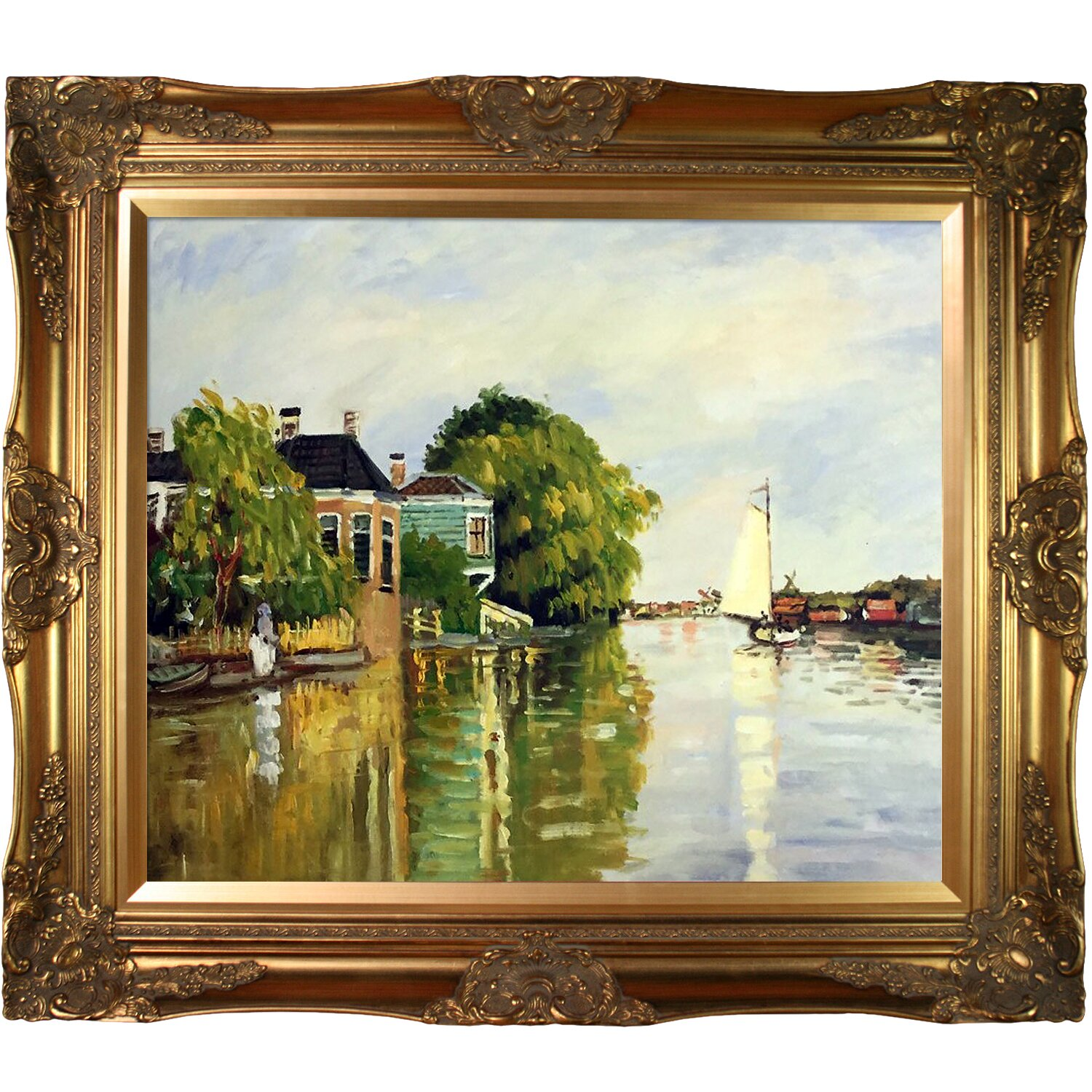 Tori Home Houses On The Achterzaan By Claude Monet Framed