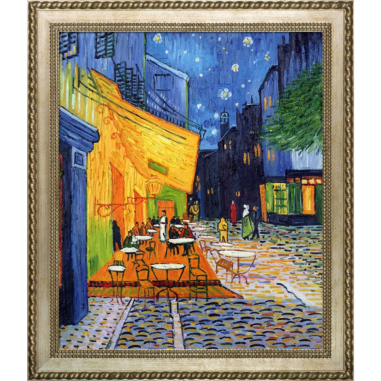 Tori Home Cafe Terrace At Night By Vincent Van Gogh Framed